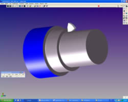 Lathe part programming with CAM software